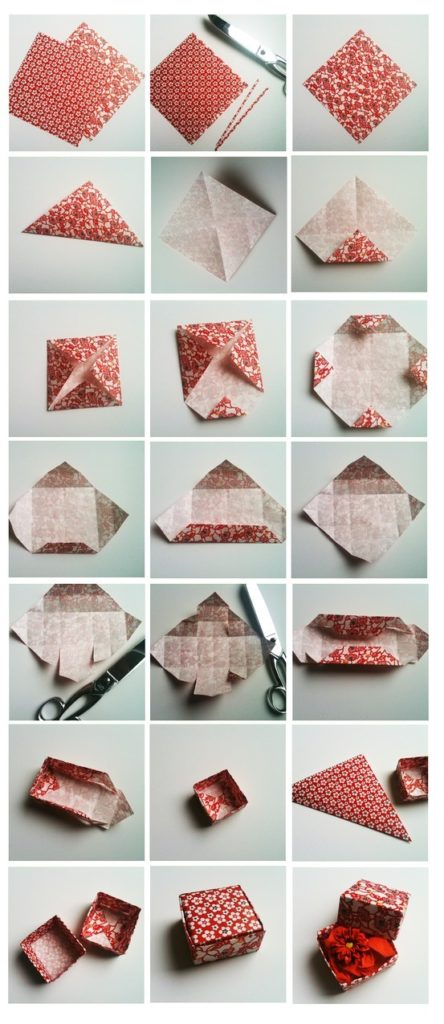 origami ile şekerlik yapımı