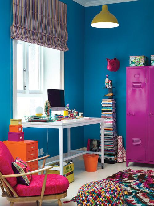 Rengarenk Home Ofis Dekorasyonu