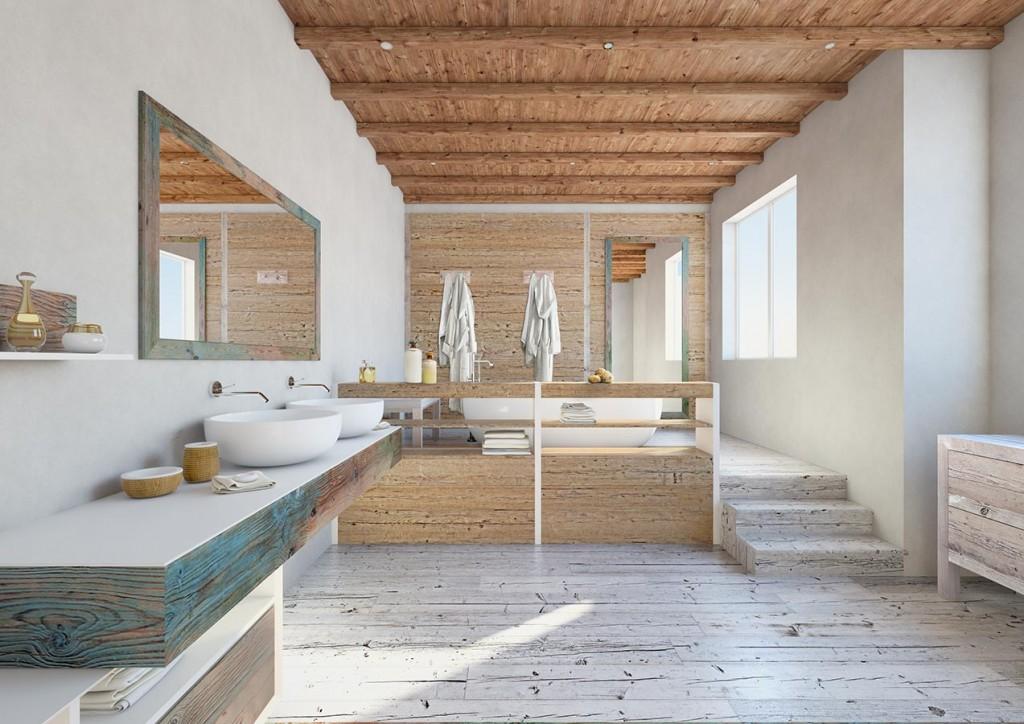 rustik-banyo-dekorasyonu