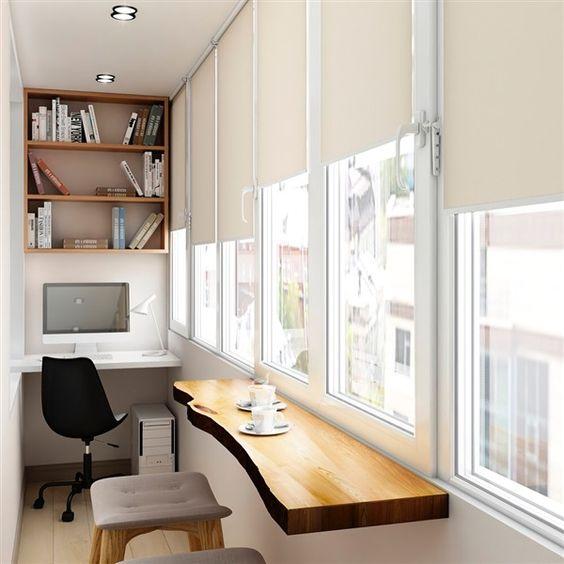 balkonda çalışma odası fikirleri