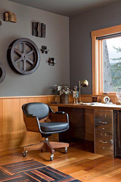 endüstriyel home ofis fikirleri