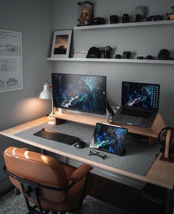 erkekler için home ofis fikirleri