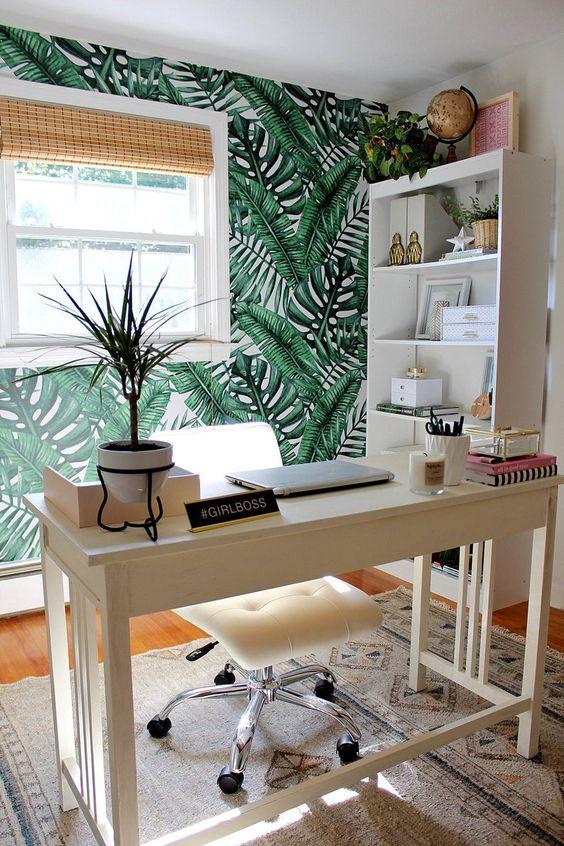 kadınlara özel home ofis dekorasyonu