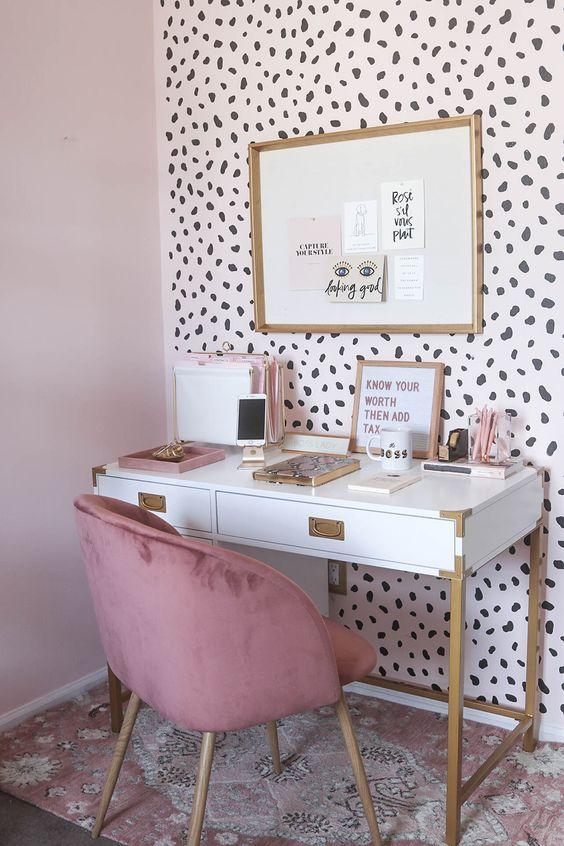 kadınlara özel home ofis dekorasyon fikirleri