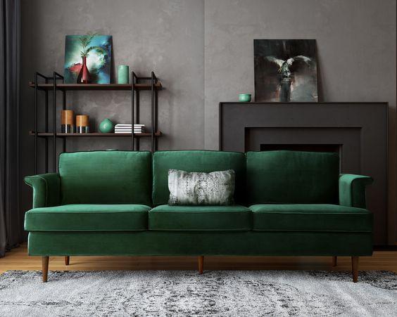 1 Yeşil Kadife Koltuk Ile 15 Farklı Salon Dekorasyonu