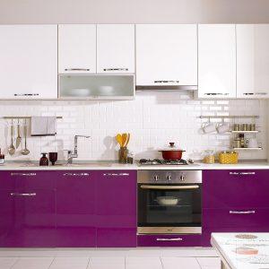 Amerikan Mutfak Modelleri Mürdüm Rengi
