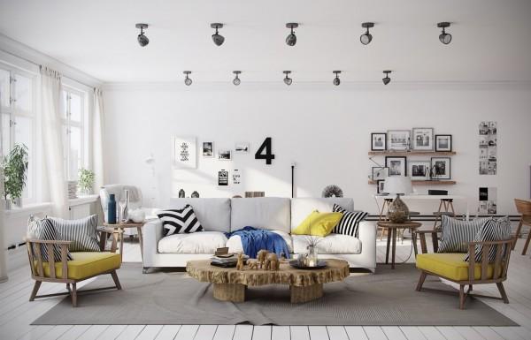 İskandinav Dekorasyon Sarı Renk