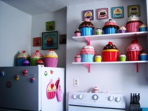 Mutfak Dekorasyonu Cupcake