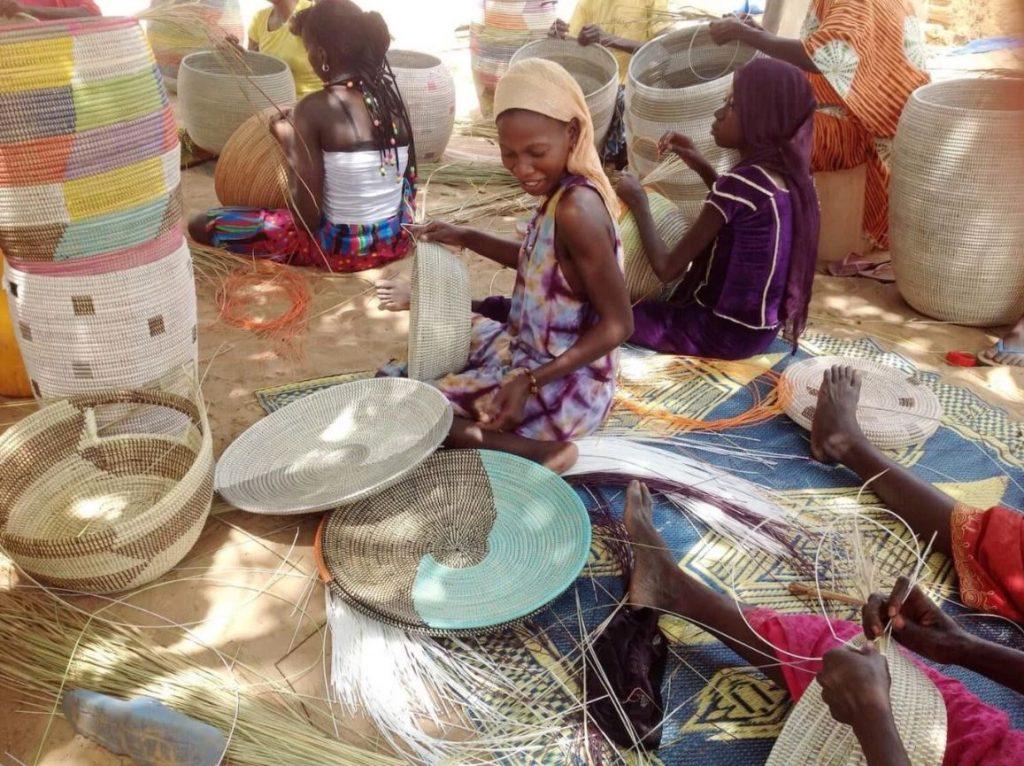 Afrika hasır örme sanatı
