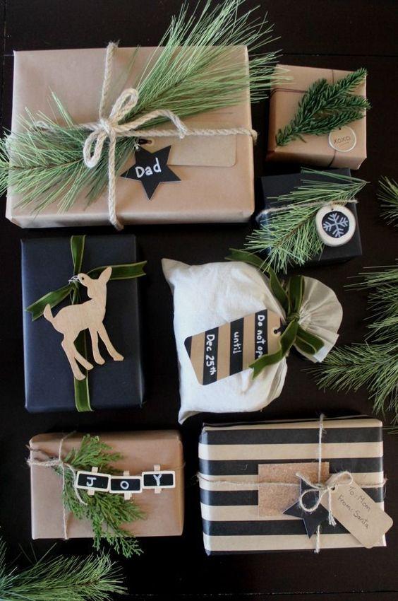 yılbaşı hediye paketi süsleme fikirleri