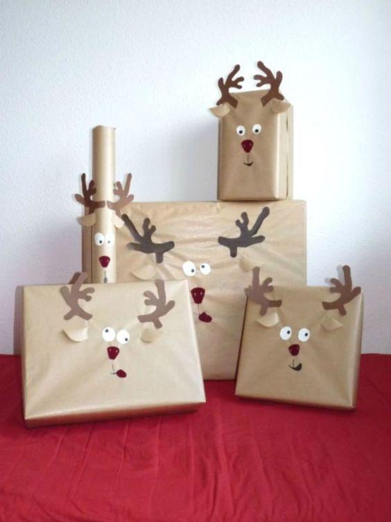 komik yılbaşı hediye paketi süsleme fikirleri