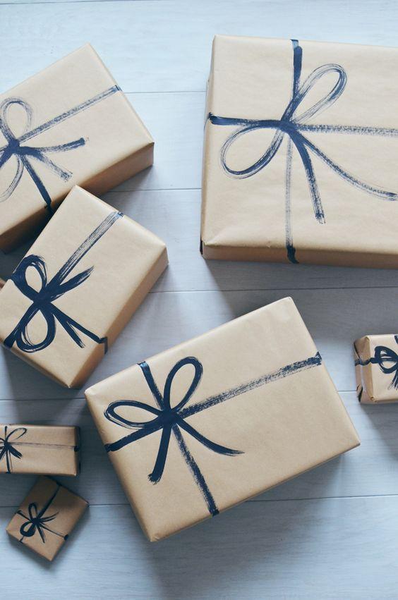 kurdelesiz hediye paketi süsleme