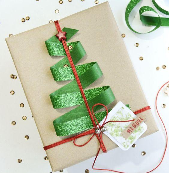 yılbaşı hediye -paketi süsleme