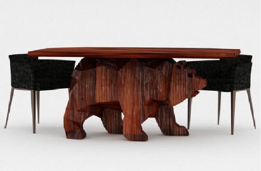 Yaratıcı Bir Masa Tasarımı: Ayı Şeklinde Masa