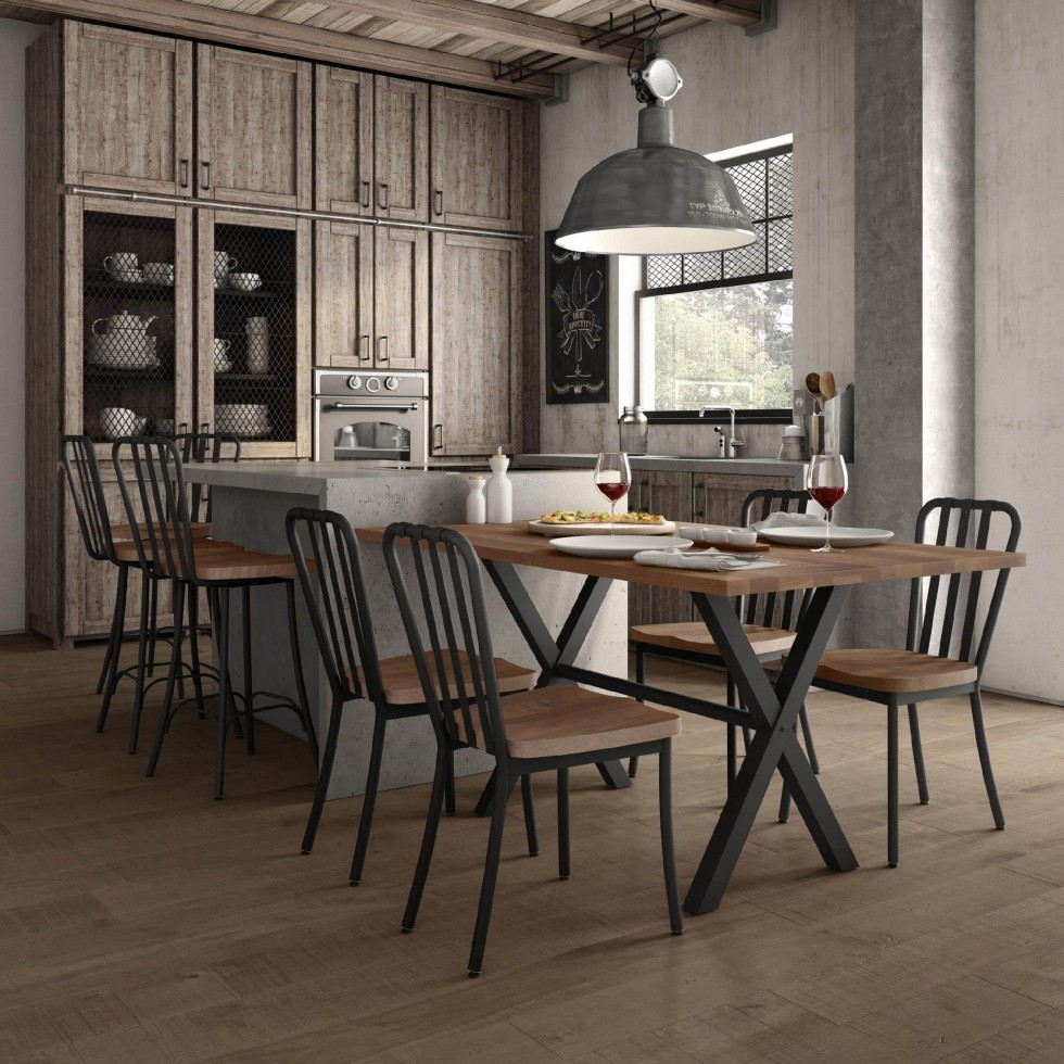 Masif Masa ile Yemek Odası Dekorasyonu Fikirleri