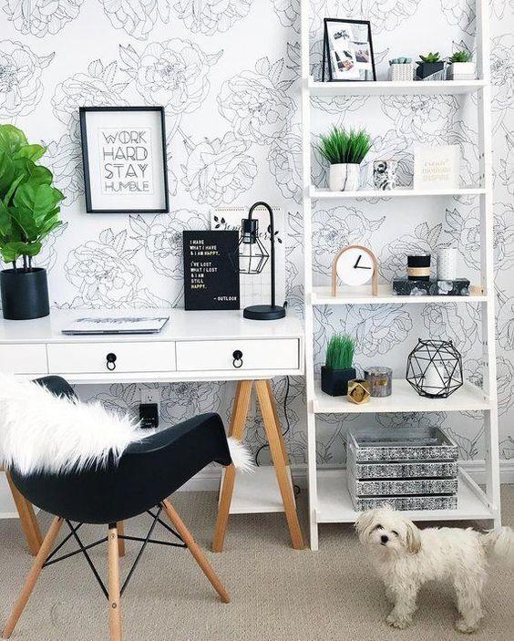 kadınlar için home ofis dekorasyon fikirleri