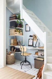 merdiven altı çalışma masası fikirleri