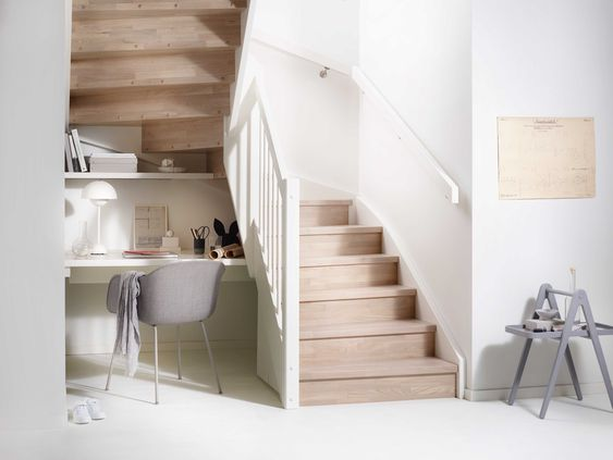 Merdiven Altı Boşlukları Çalışma Masası ile Nasıl Değerlendirilir?