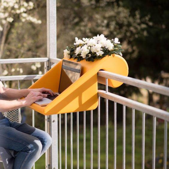 açık balkon takılabilir sehpa