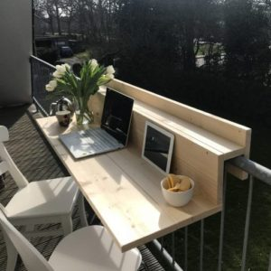 açık balkon ofis fikirleri