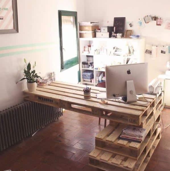 paletten çalışma masası