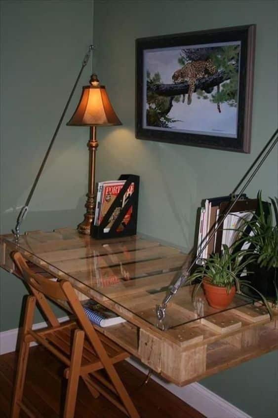 ahşap paletten ofis masası