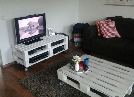 beyaz palet tv ünitesi nasıl yapılır