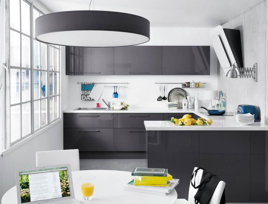 antrasit mutfak dekorasyonu