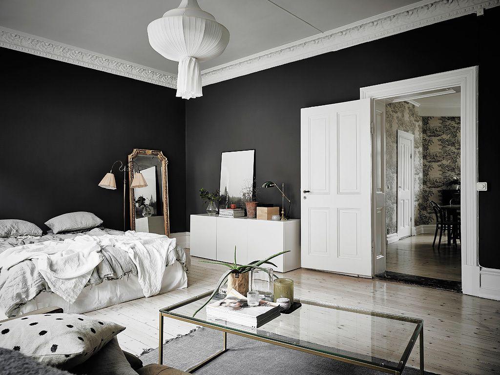 antrasit yatak odası dekorasyonu