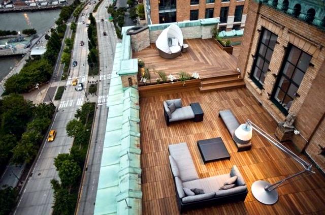 apartman çatı terası fikirleri