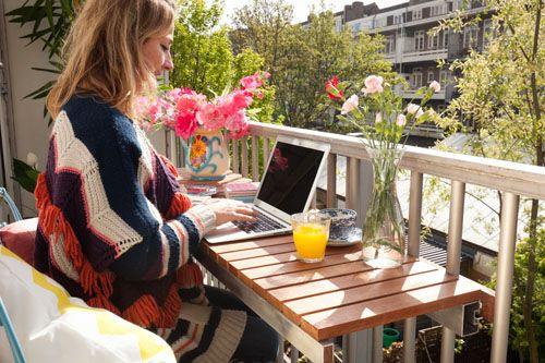 Ofisi Balkona Taşıyoruz: Balkon Ofis Dekorasyonu Fikirleri