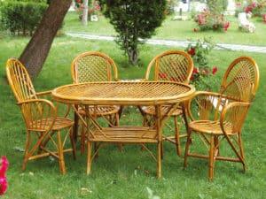 bambu bahcemasa sandalye takımı