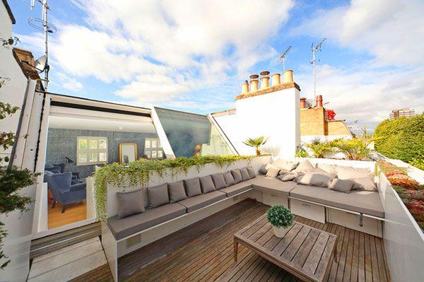 çatı terası dekorasyonu