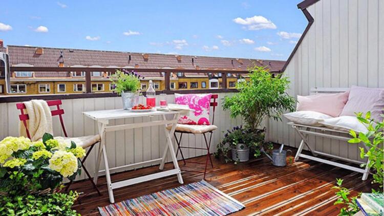 renkli çatı terası fikirleri