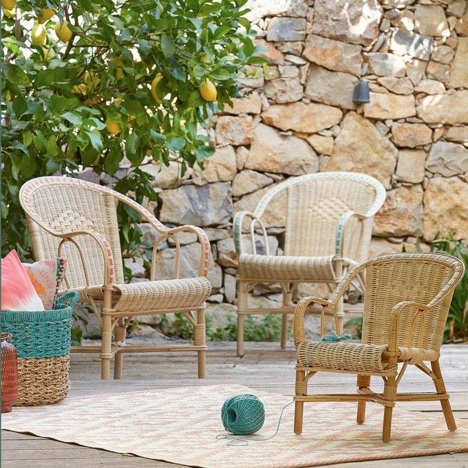 doğal rattan bahçe mobilyaları