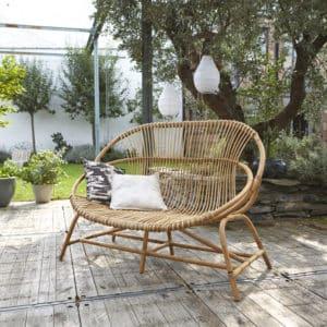 doğal rattan bahçe koltuğu