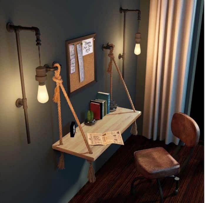 duvara asılan çalışma masası fikirleri