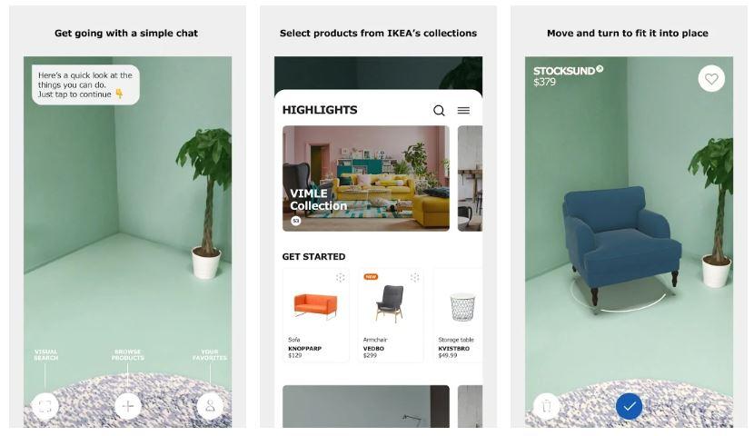 Ikea place dekorasyon uygulaması