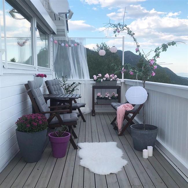 küçük teras dekorasyonu nasıl yapılır