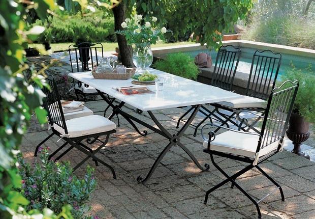 metal bahçe mobilyası