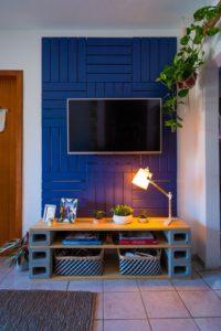 tuğla ve tahtadan tv ünitesi nasıl yapılır