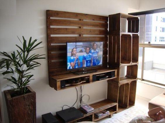 paletten tv standı nasıl yapılır