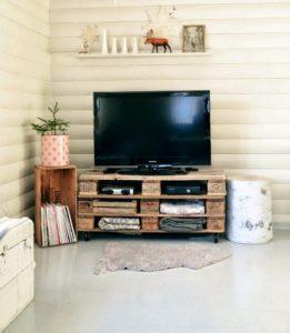 paletten tv ünitesi yapımı