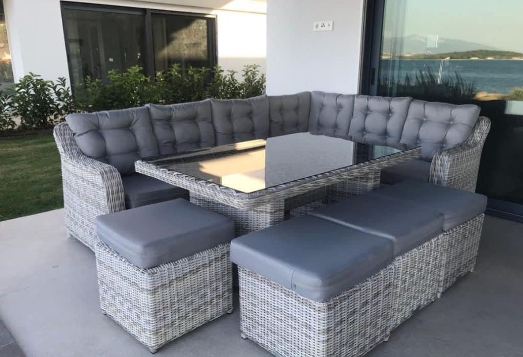 rattan balkon mobilyaları