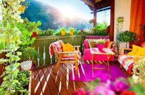 renkli teras dekorasyon örnekleri