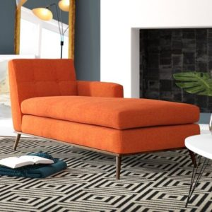 retro chaise lounge