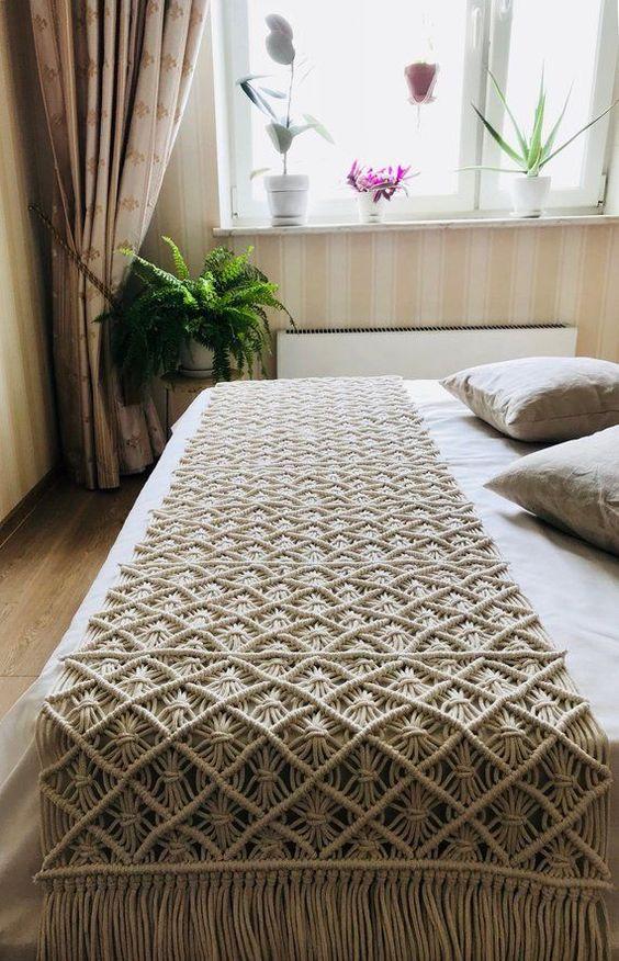 makromeden yatak örtüsü yapılışı