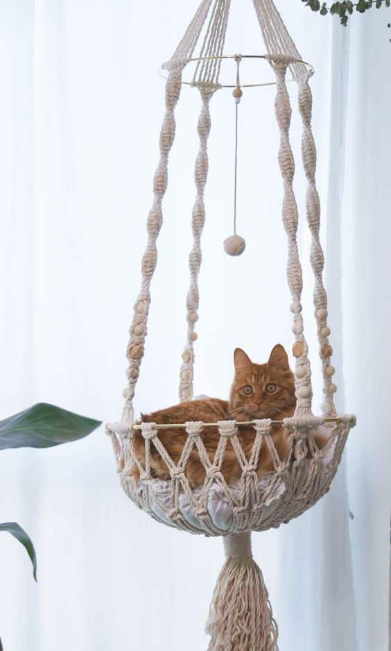 makromeden kedi yatağı hamak yapılışı