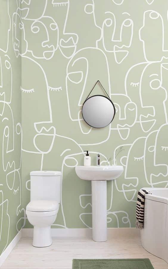 minimalist çizim duvar kağıdı