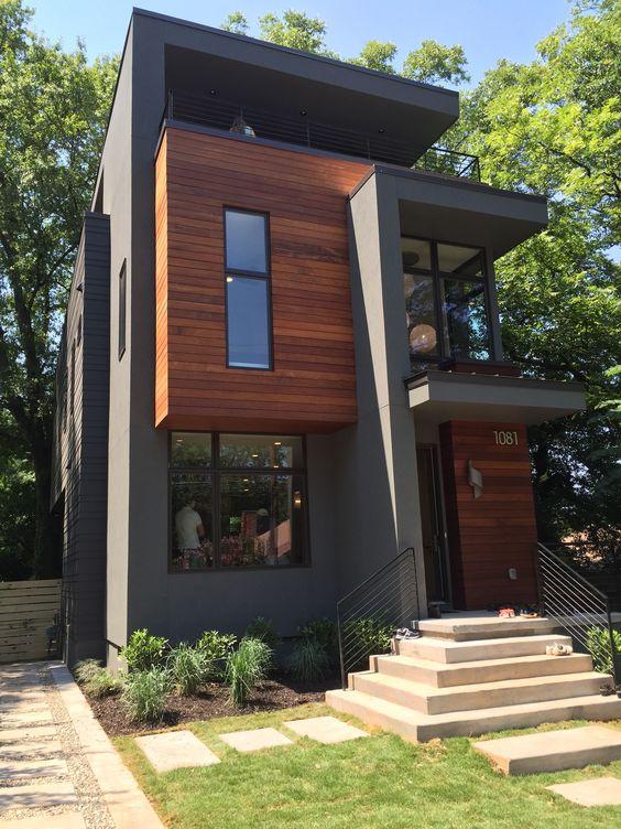 modern müstakil ev girişi